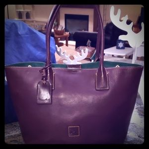 Dooney and Bourke Florentine Small Russell Plum